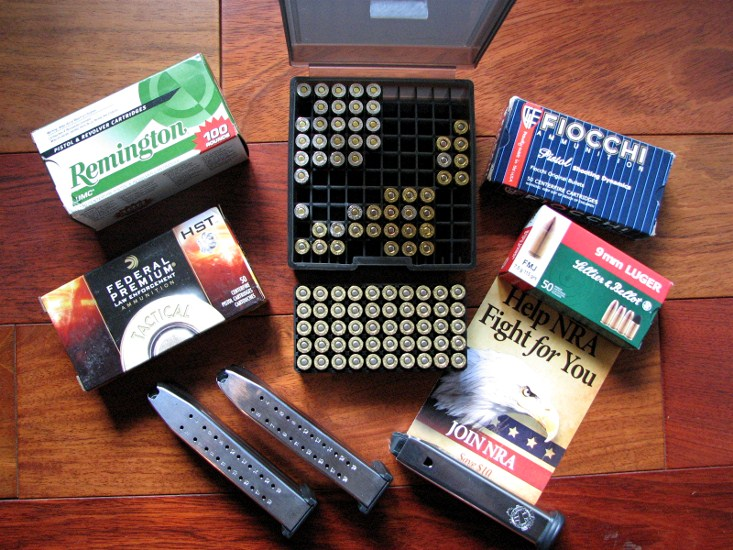 Some of the ammo we used. The 3 mags worked hard and were 100% reliable